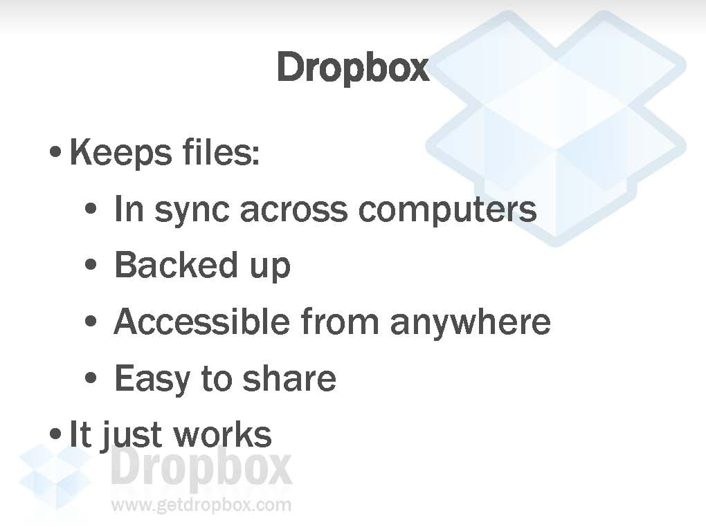Dropbox seed pitch deck to raise capital investment